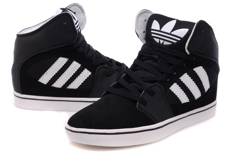 Adidas Originals Shoes High Tops White And Black