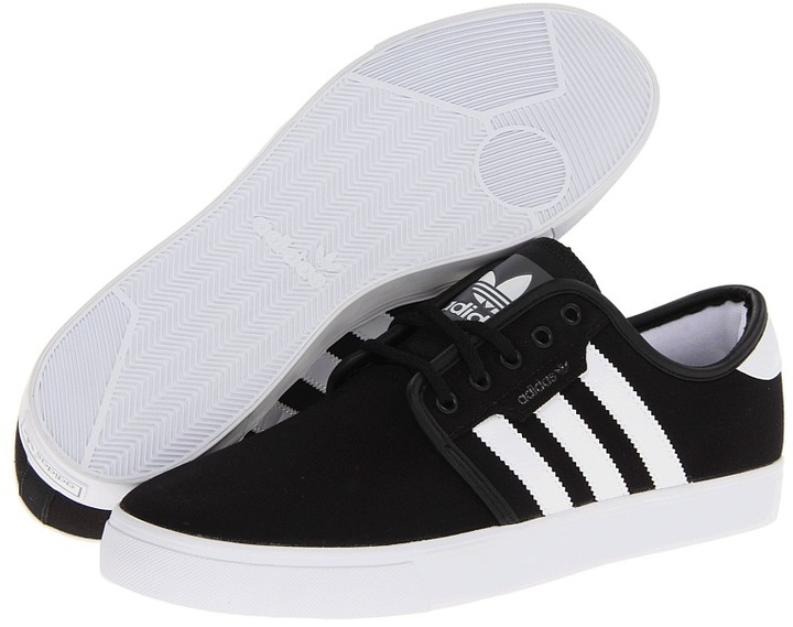 Authentic Black White Adidas Mens Shoes Trainers Sneakers